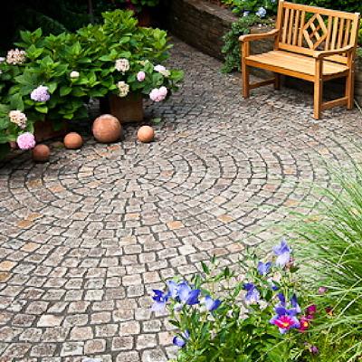 Terrassen Aus Naturstein Frostsicher Granit Sandstein Quarz